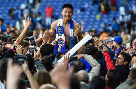 西甲官博:武磊当选西甲第38轮最佳球员