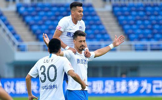 【战报】天津泰达1-0北京人和,瓦格纳任意球破门,郑凯木中柱
