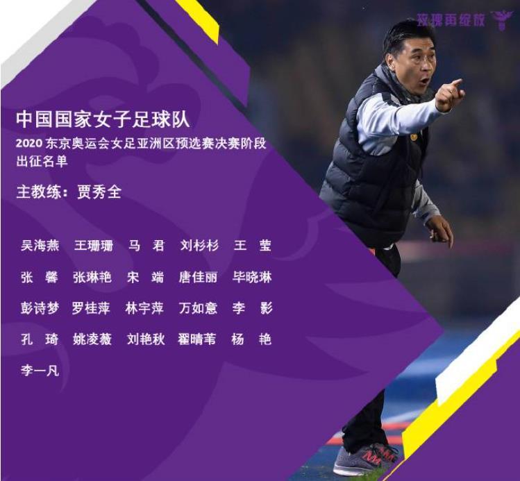 女足奥预赛大名单:王霜因疫情无缘,王珊珊、吴海燕入选