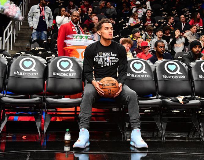 特雷-杨成为NBA历史第三年轻得到至少50分并且赢球的球员