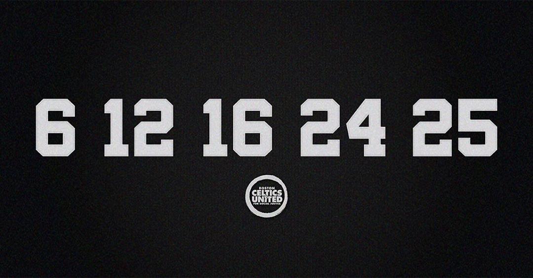 凯尔特人官方纪念NBA历史上第一支全黑人组成的首发阵容